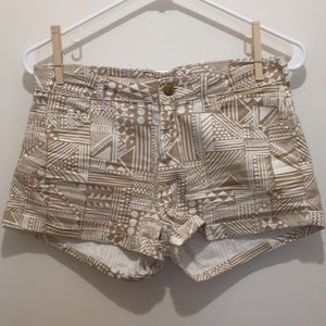 H&M Beige/White, Patterned Shorts